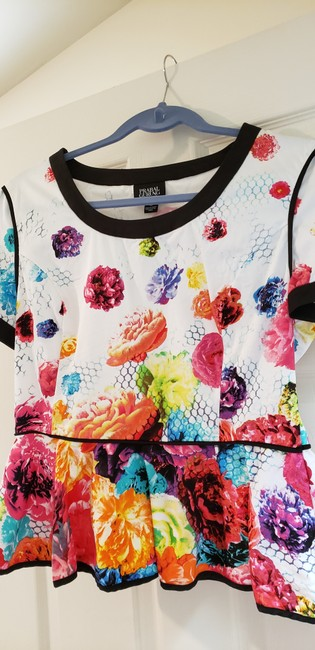 Prabal Gurung for Target Limited Edition Peblum Floral Crush Pretty Summer Top multi color Image 1