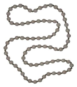 sterling silver Rose Quartz Silver Plated Bead Necklace