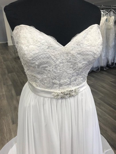 House of Wu Ivory Chiffon Private Collection A-line Destination Wedding Dress Size 20 (Plus 1x) Image 1