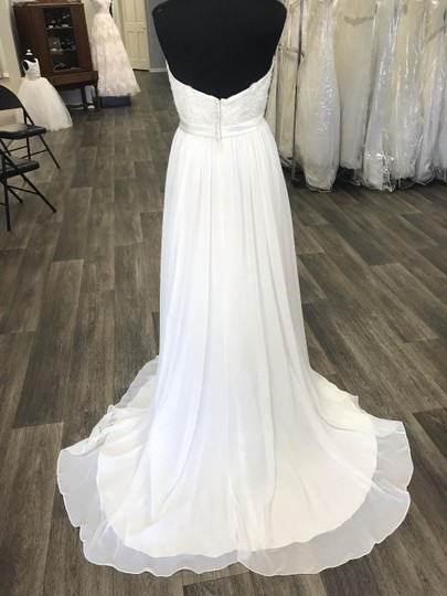 House of Wu Ivory Chiffon Private Collection A-line Destination Wedding Dress Size 20 (Plus 1x) Image 2