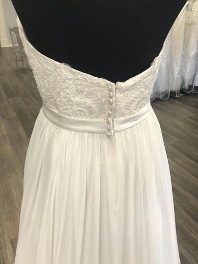 House of Wu Ivory Chiffon Private Collection A-line Destination Wedding Dress Size 20 (Plus 1x) Image 3