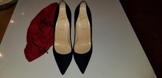 Christian Louboutin So Kate Stiletto Suede Navy Blue Pumps Image 2