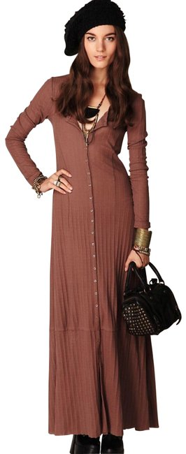 Item - Brown Moon Duster Button /Long Cardigan Sweater — Rare Style Long Casual Maxi Dress Size 8 (M)