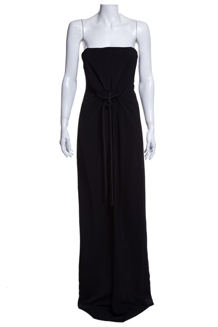 Item - Black Strapless Gown Long Cocktail Dress Size 6 (S)
