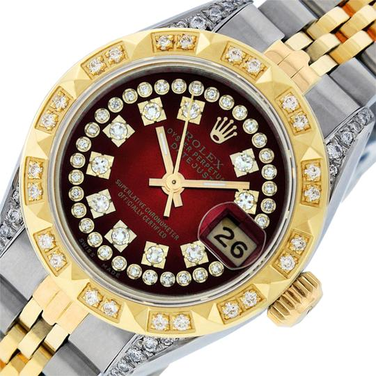 Preload https://img-static.tradesy.com/item/25822048/rolex-red-vignette-ladies-datejust-ssyellow-gold-with-string-diamond-dial-watch-0-1-540-540.jpg