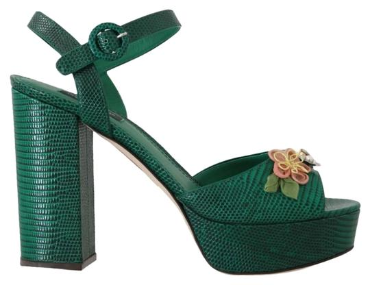 Preload https://img-static.tradesy.com/item/25822064/dolce-and-gabbana-green-iguana-leather-crystal-sandals-size-eu-39-approx-us-9-regular-m-b-0-1-540-540.jpg