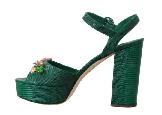 Dolce&Gabbana Green Sandals Image 2
