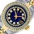 Rolex Ladies Datejust Ss/Yellow Gold with String Diamond Dial Image 0