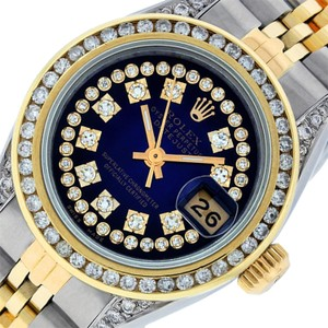 Rolex Ladies Datejust Ss/Yellow Gold with String Diamond Dial