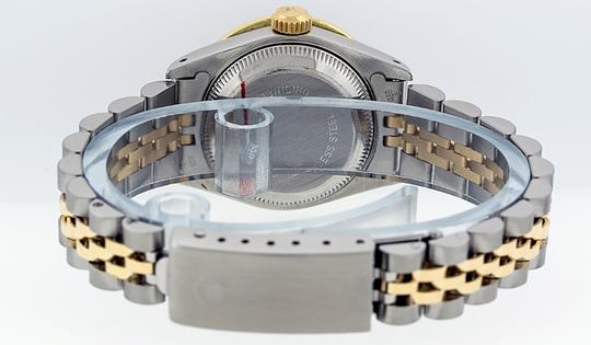 Rolex Ladies Datejust Ss/Yellow Gold with String Diamond Dial Image 2