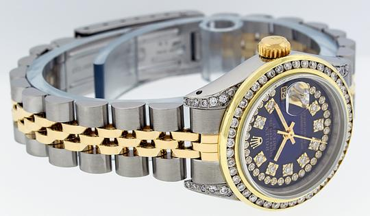 Rolex Ladies Datejust Ss/Yellow Gold with String Diamond Dial Image 5