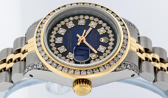 Rolex Ladies Datejust Ss/Yellow Gold with String Diamond Dial Image 6