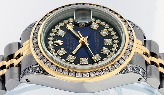 Rolex Ladies Datejust Ss/Yellow Gold with String Diamond Dial Image 7