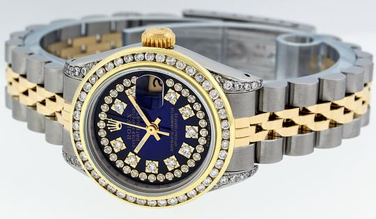 Rolex Ladies Datejust Ss/Yellow Gold with String Diamond Dial Image 8