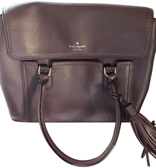 Preload https://img-static.tradesy.com/item/25822076/kate-spade-nicole-mccall-street-wine-pebbled-leather-satchel-0-2-540-540.jpg