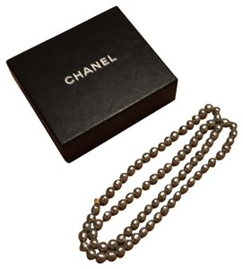 Chanel Authentic Chanel Vintage Silver Faux Pearl