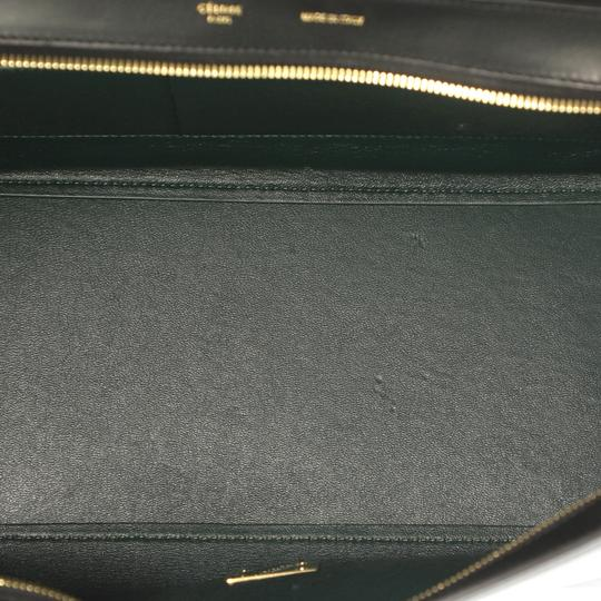 Céline Bicolor Trapeze Satchel in black and green Image 5