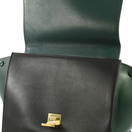 Céline Bicolor Trapeze Satchel in black and green Image 6