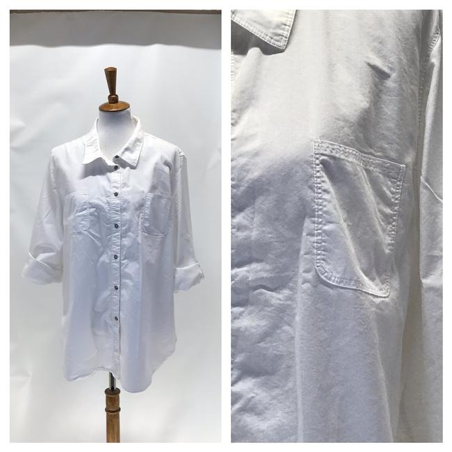 Wendy Williams Collection Button Down Shirt White Image 3