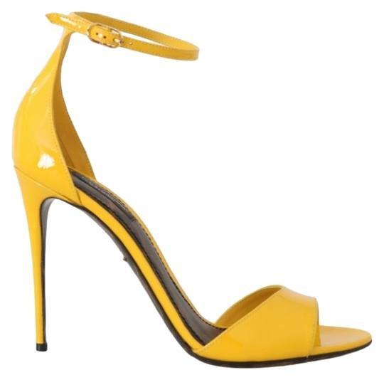 Preload https://img-static.tradesy.com/item/25822103/dolce-and-gabbana-yellow-leather-silk-heels-sandals-size-eu-39-approx-us-9-regular-m-b-0-1-540-540.jpg