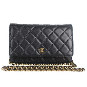 Chanel Wallet On A Chain Leather Woc Cross Body Bag