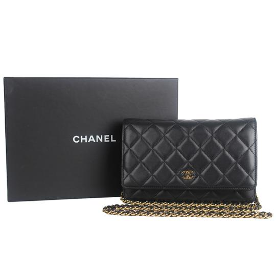Chanel Wallet On A Chain Leather Woc Cross Body Bag Image 1