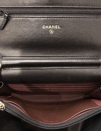 Chanel Wallet On A Chain Leather Woc Cross Body Bag Image 10