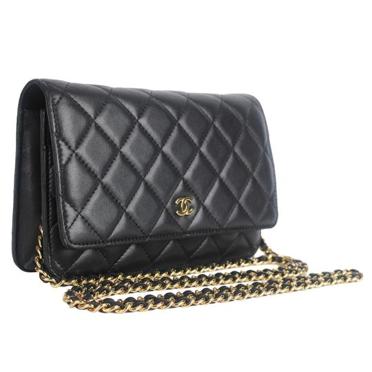 Chanel Wallet On A Chain Leather Woc Cross Body Bag Image 3