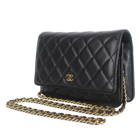 Chanel Wallet On A Chain Leather Woc Cross Body Bag Image 4