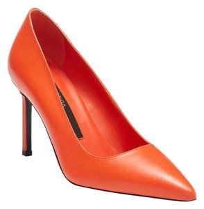 Via Spiga Leather Stiletto Orange Pumps