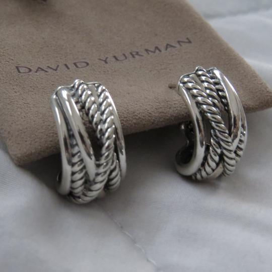 David Yurman Crossover Collection SS Open Hoops Image 1