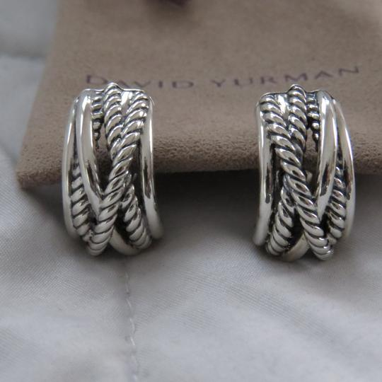 David Yurman Crossover Collection SS Open Hoops Image 2