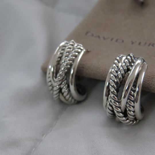 David Yurman Crossover Collection SS Open Hoops Image 3