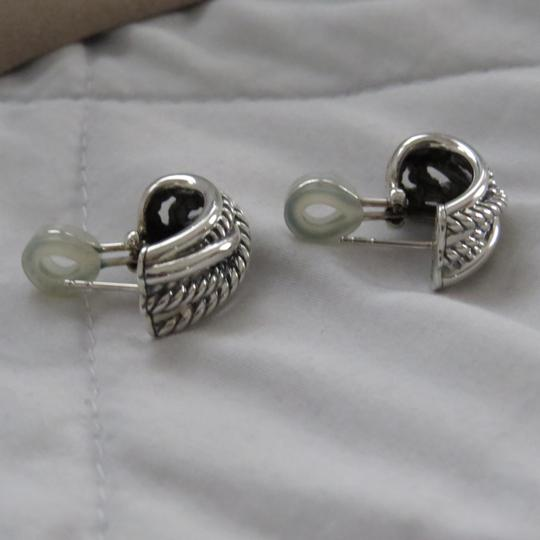 David Yurman Crossover Collection SS Open Hoops Image 4