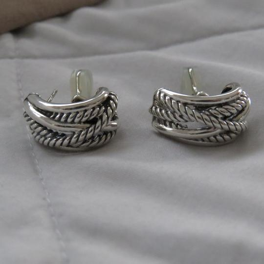 David Yurman Crossover Collection SS Open Hoops Image 5