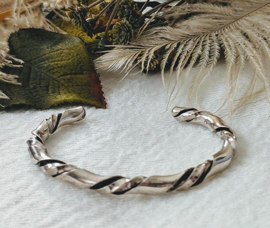 Vintage Native American Vintage Native American Sterling Silver Twisted Cuff Image 1