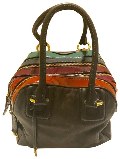 Preload https://img-static.tradesy.com/item/25822259/dolce-and-gabbana-d-and-g-5-zip-lily-multi-color-patent-handbag-sku-40288-brown-leather-satchel-0-1-540-540.jpg