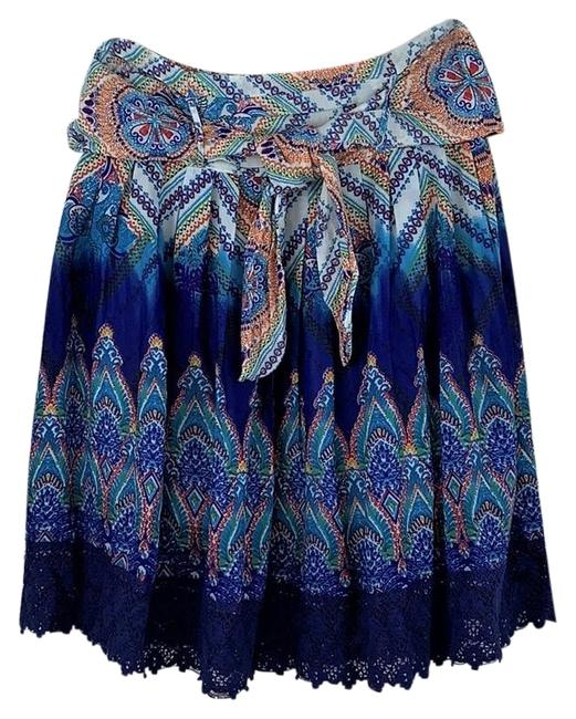 Preload https://img-static.tradesy.com/item/25822292/blue-white-colorful-boho-hippie-lined-lace-trim-peasant-skirt-size-12-l-32-33-0-1-650-650.jpg