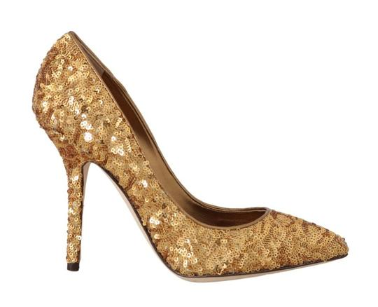Preload https://img-static.tradesy.com/item/25822331/dolce-and-gabbana-gold-sequined-leather-heels-pumps-size-eu-39-approx-us-9-regular-m-b-0-0-540-540.jpg
