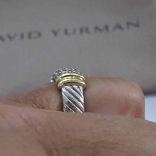 David Yurman Metro Collection - Pave' Metro SS/18k Diamond Ring Image 6