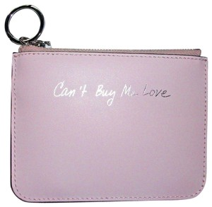 Rebecca Minkoff Key Fob Can't Buy Me Love Pink Leather $50 Retail