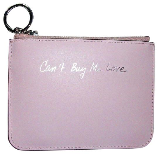 Preload https://img-static.tradesy.com/item/25822388/rebecca-minkoff-pink-key-fob-can-t-buy-me-love-leather-retail-wallet-0-1-540-540.jpg