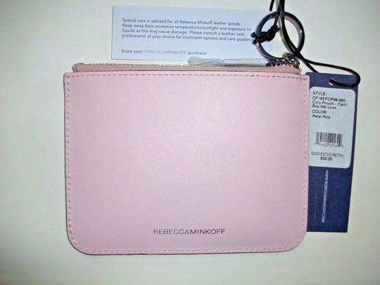 Rebecca Minkoff Key Fob Can't Buy Me Love Pink Leather $50 Retail Image 1