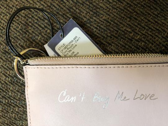 Rebecca Minkoff Key Fob Can't Buy Me Love Pink Leather $50 Retail Image 2