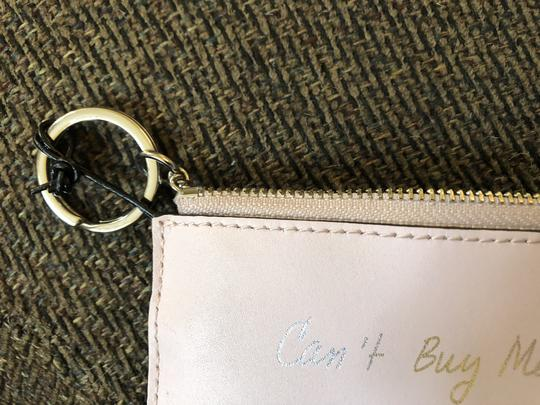 Rebecca Minkoff Key Fob Can't Buy Me Love Pink Leather $50 Retail Image 3