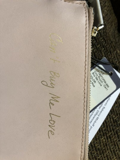 Rebecca Minkoff Key Fob Can't Buy Me Love Pink Leather $50 Retail Image 4