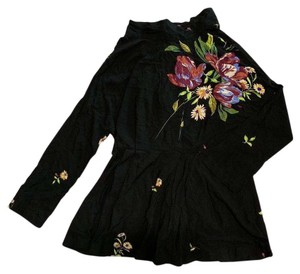 Free People Tunic Floral Open High Neck Dress