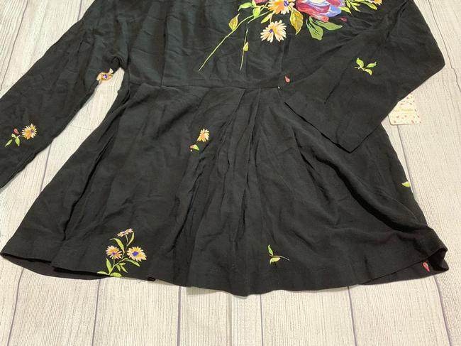 Free People Tunic Floral Open High Neck Dress Image 1