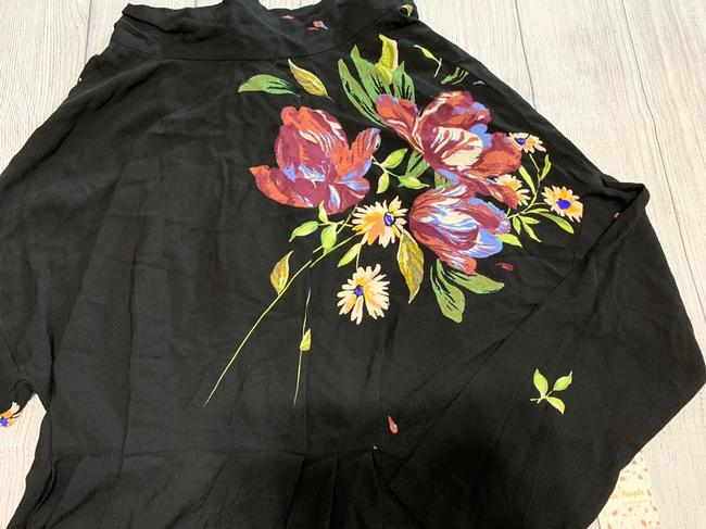 Free People Tunic Floral Open High Neck Dress Image 2