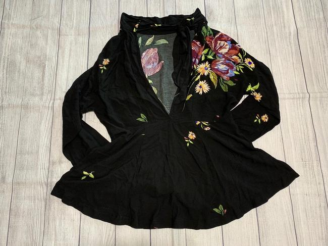 Free People Tunic Floral Open High Neck Dress Image 8